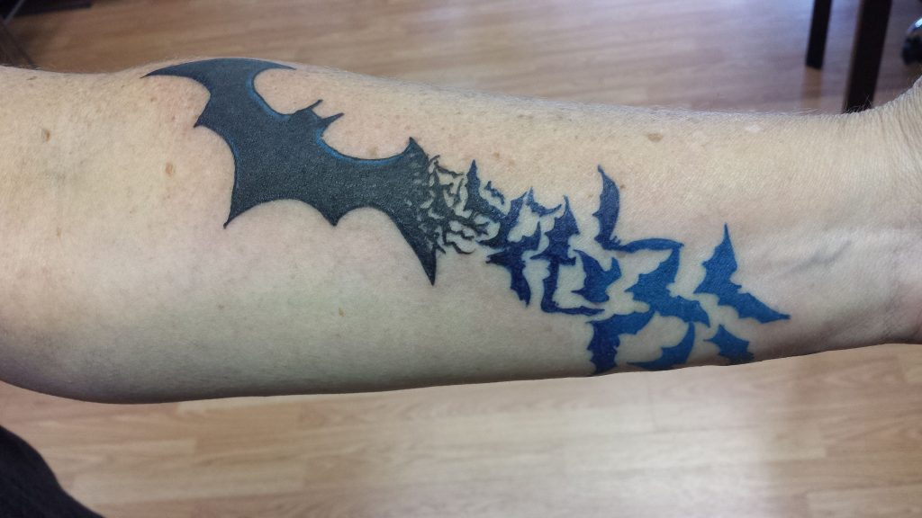 The Power of the Caped Crusader tattoo