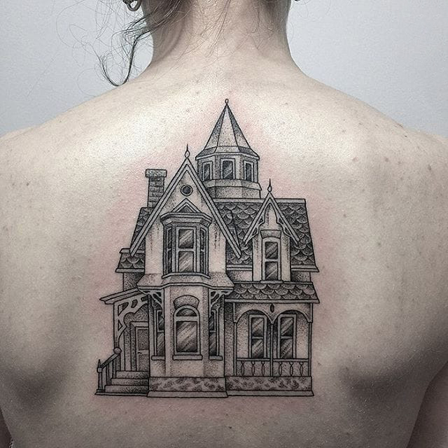 Victorian architecture tattoo