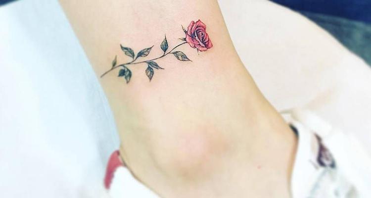 Miniature Rose Tattoo