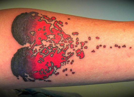 sprinkling Heart tattoo ideas
