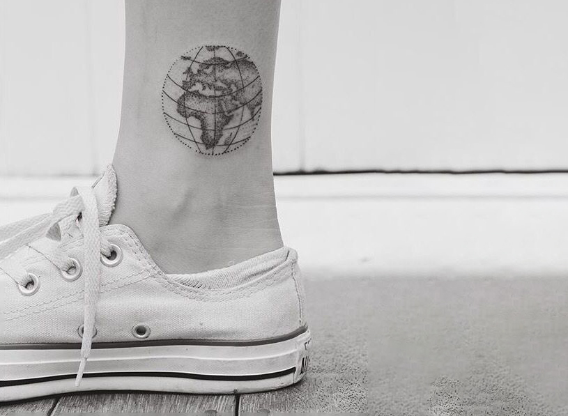 Anchor And Heart Tattoo On Ankle