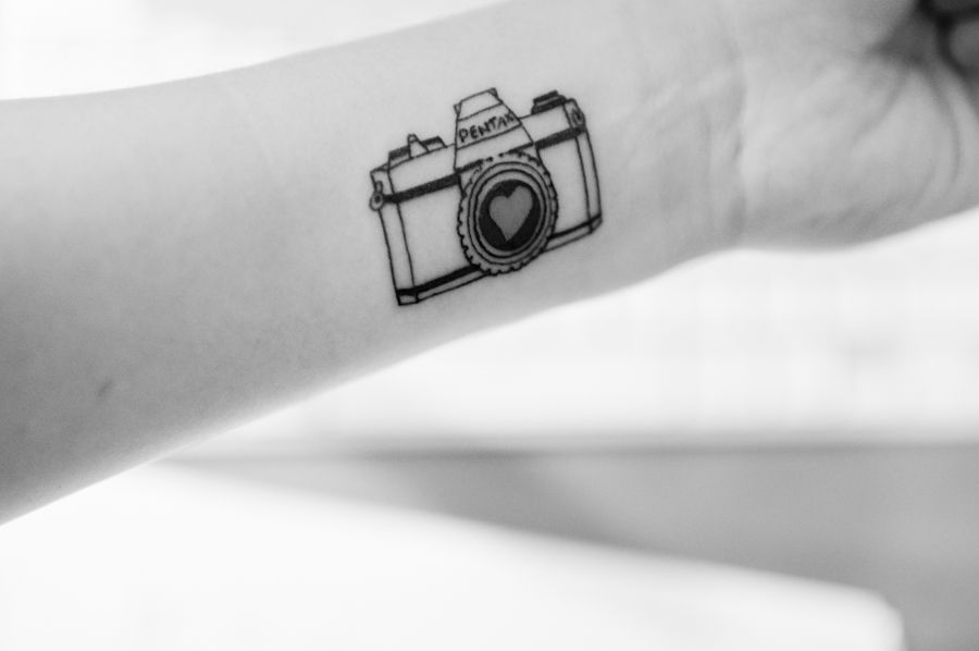 Best camera Tattoo photo on Wrist