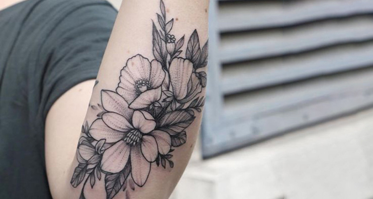 Ambrosia Floral Tattoo