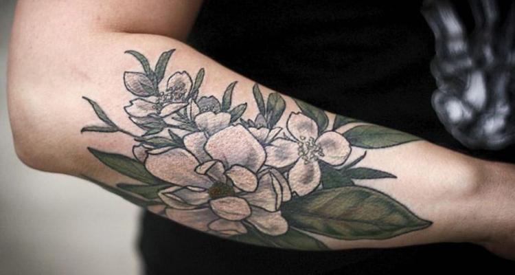 Arbutus Floral Tattoo
