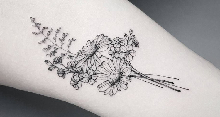 Aster Floral Tattoo
