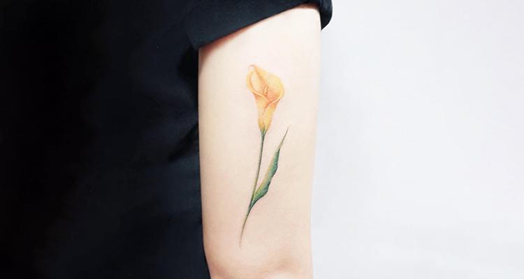Calla Lily Floral Tattoo