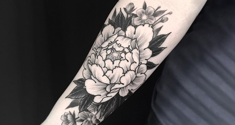 Carnation Floral Tattoo