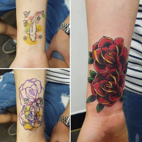 Colors Used in Cover-up Tattoos