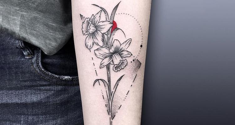 Daffodil Floral Tattoos