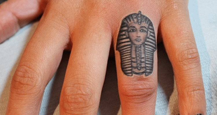 Death Mask of Tutankhamun small tattoo