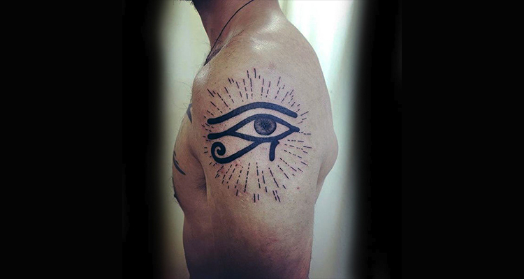 Eye of Ra- also known as the eye of God sholder tattoo