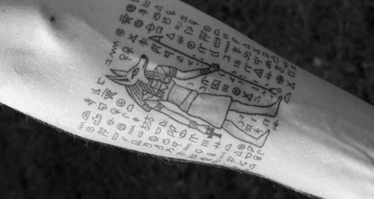 Hieroglyphs tattoo