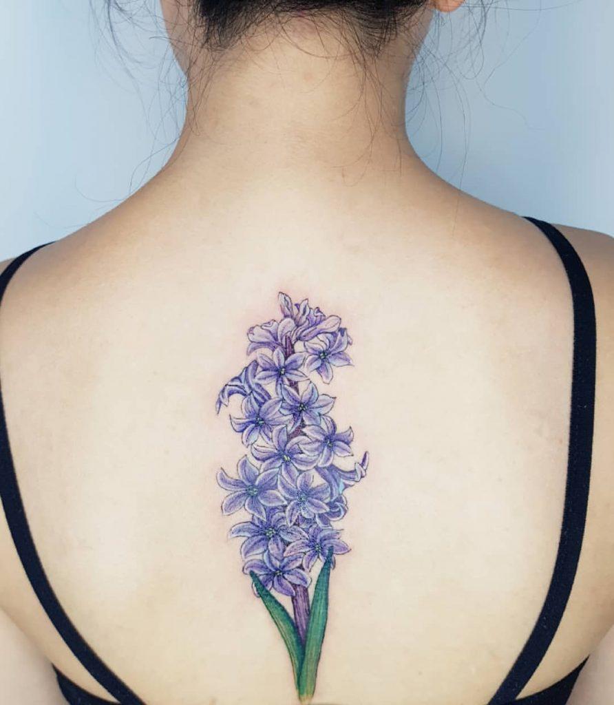 Back Flower tattoos pic