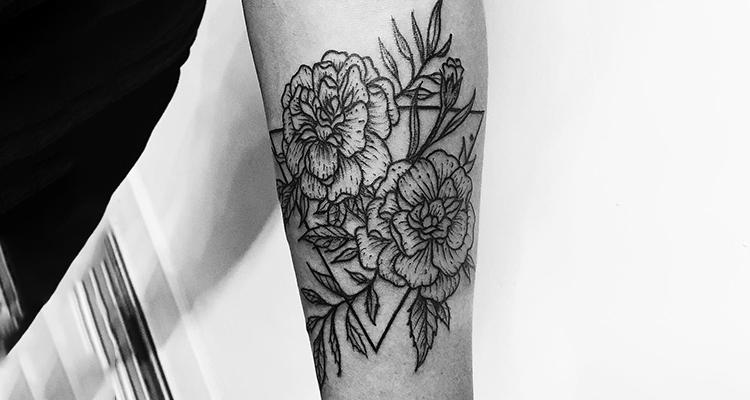 Marigold Floral Tattoo