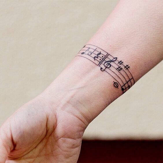 Music armband tattoo ideas