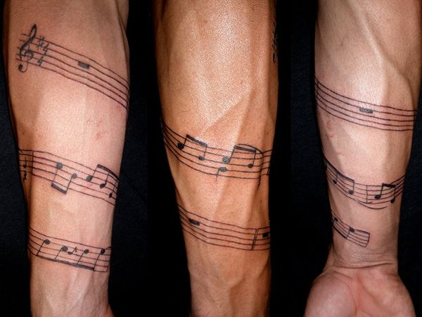 Musical Armband Tattoo Ideas