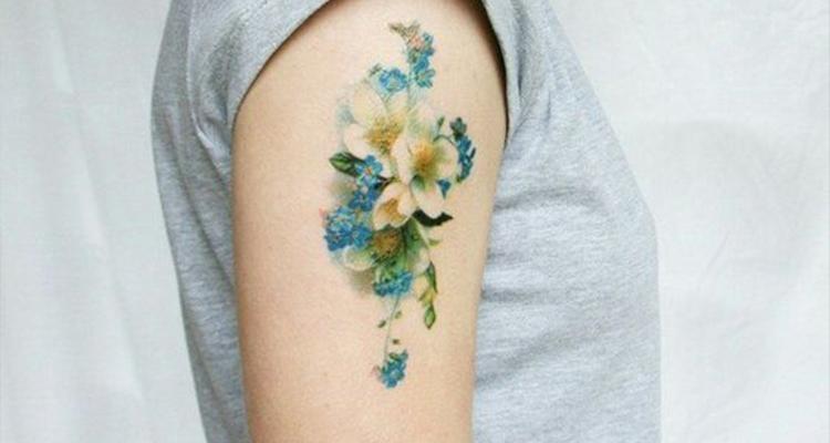 Myosotis Floral Tattoo