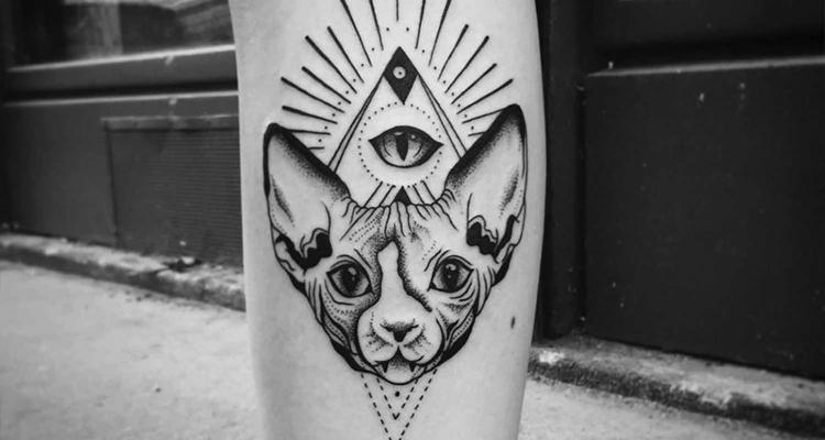 Mysterious Sphinx soulder tattoo