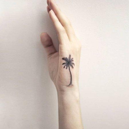Small Palm Tree tat
