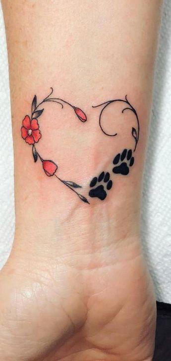 Small Paw Tattoo ink