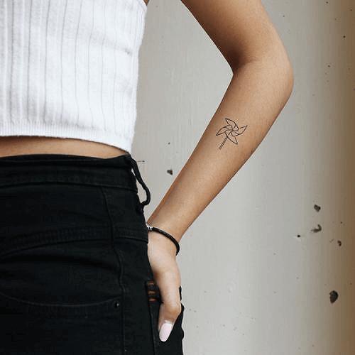 Small Pinwheel Tattoo Designs