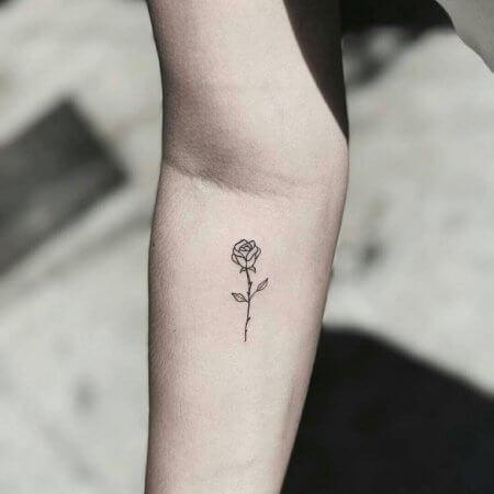Small Rose Tattoo art