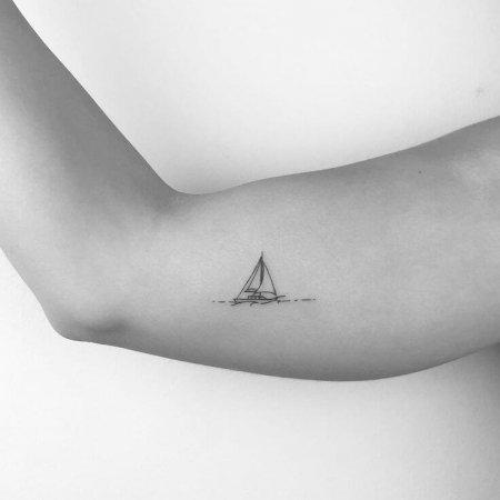 Small-Sailboat-Tattoos Ideas