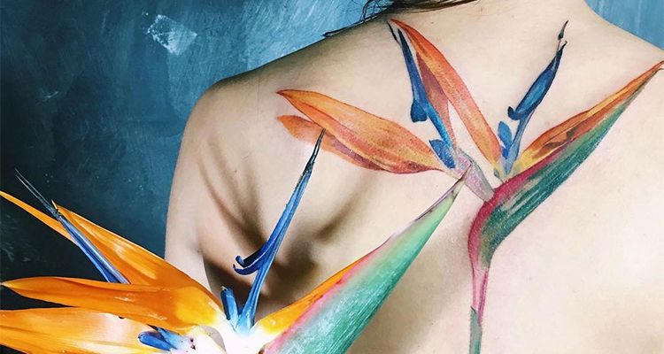Strelitzia Floral Tattoo