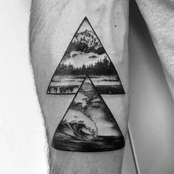 Triangle Wave tattoo