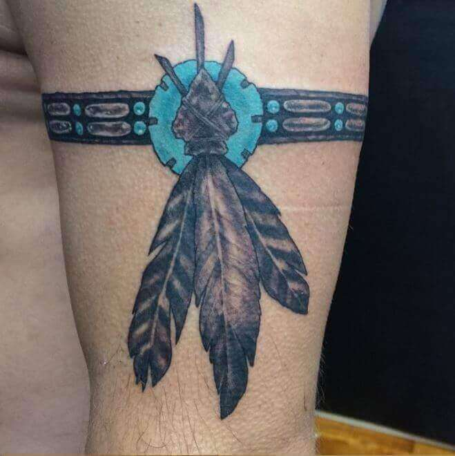 native american Tribal armband tatto