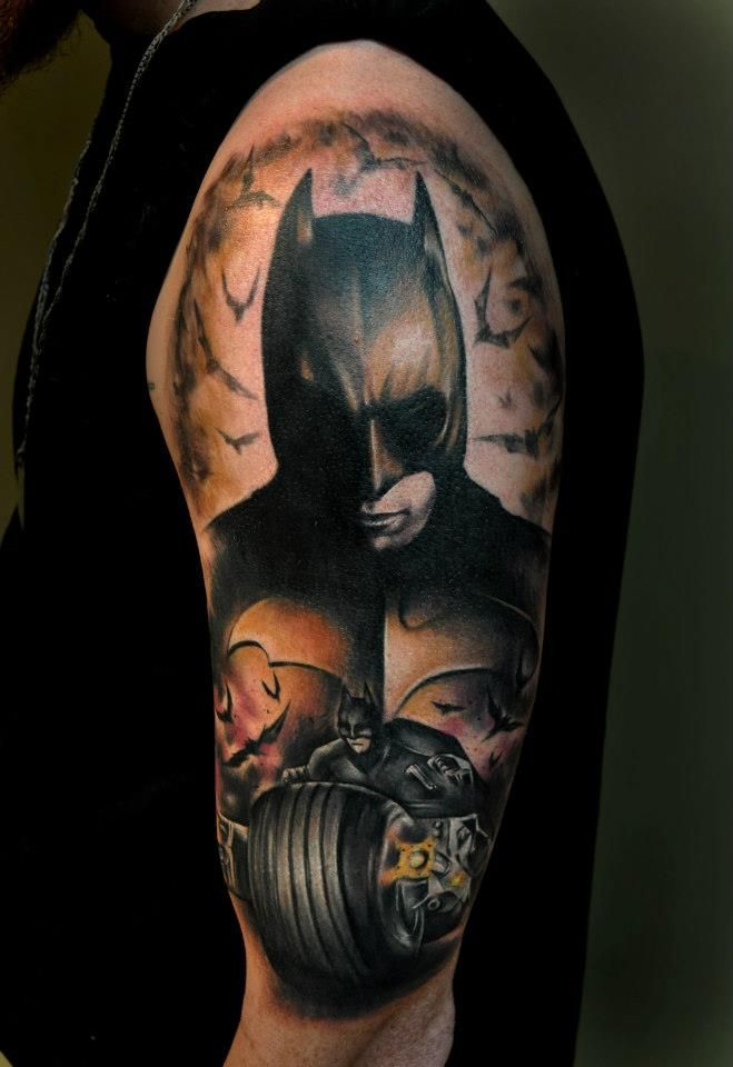Batman Sleeve Tattoo Designs for men and women