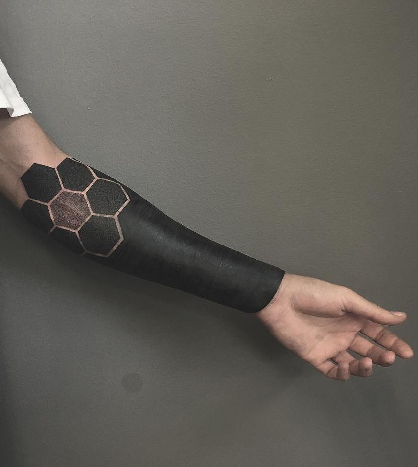 Black Ink Sleeve Tattoo Designs