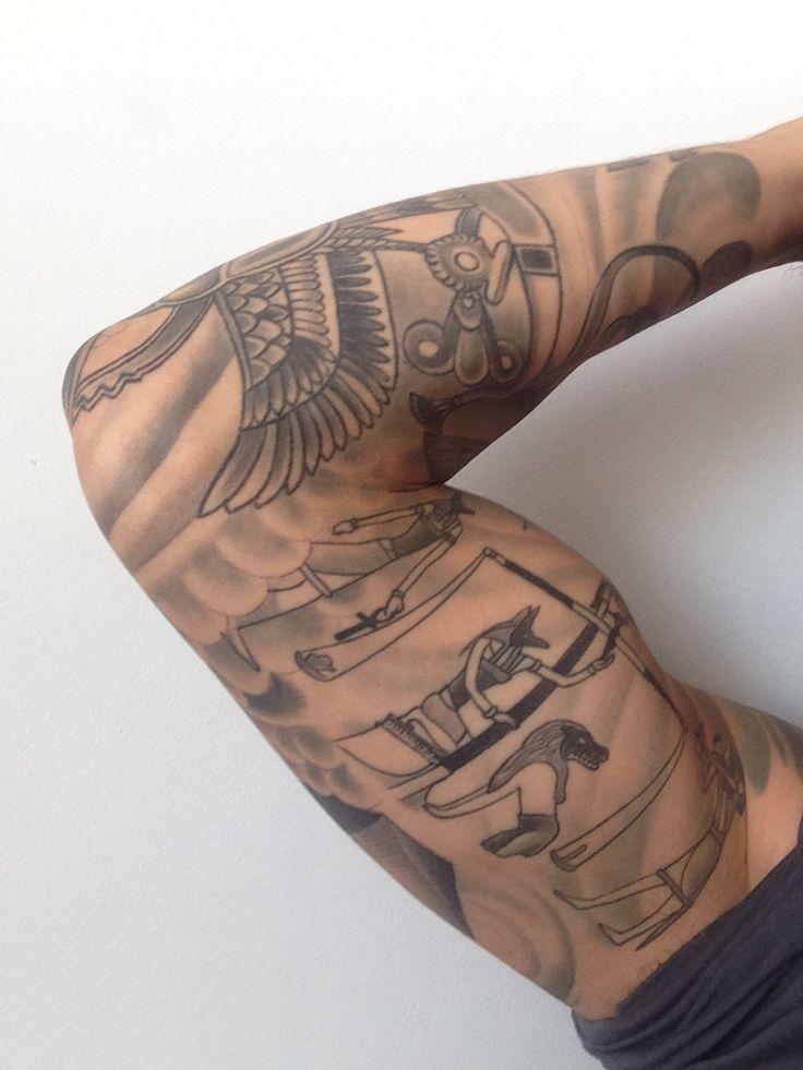 Egyptian Sleeve Tattoos Idea
