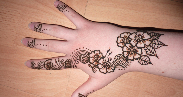 Henna-inspired tattoo on your hand