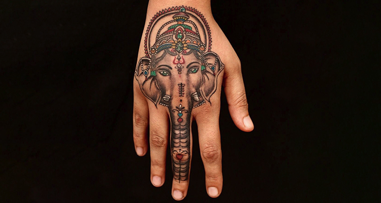 Lord Ganesha on your hand tattoo