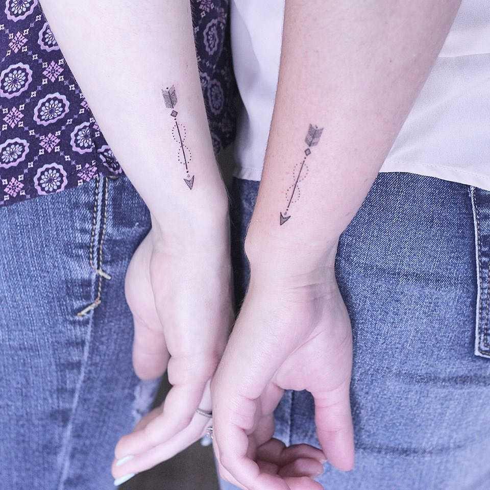 Matching Arrow Tattoo for friends