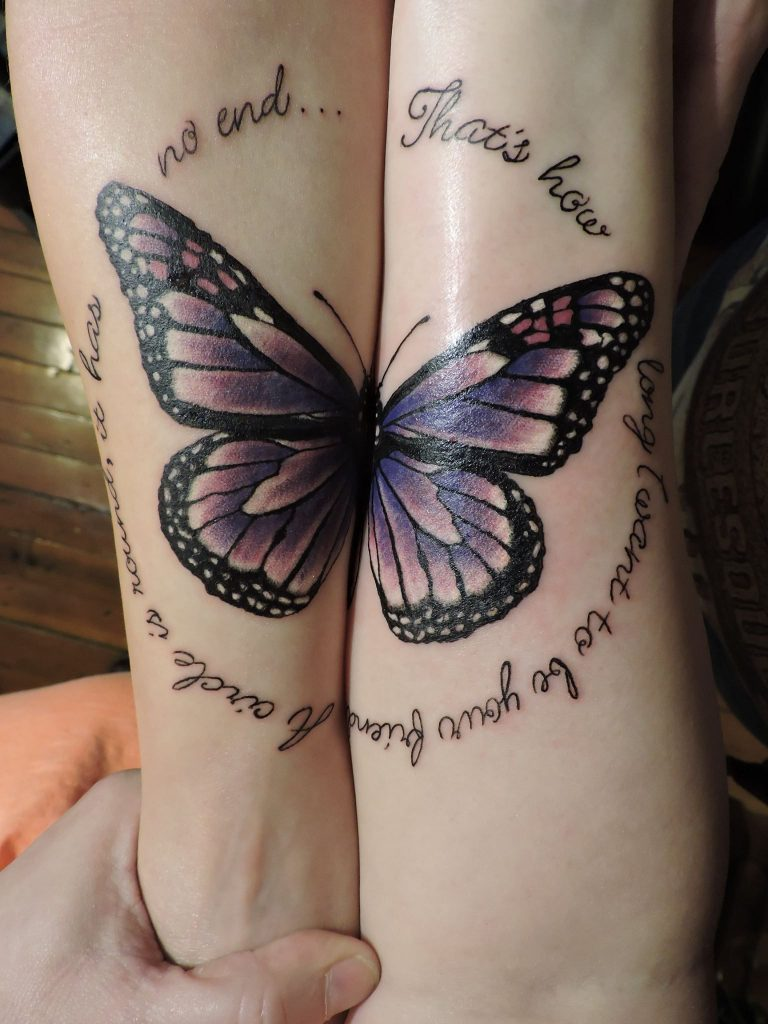 matching tattoo for couple and friend