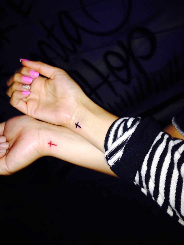 Matching Cross Tattoo for couple