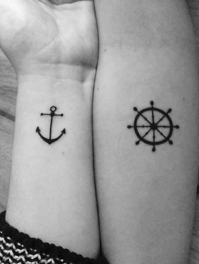 Nautical Matching Tattoo on Hand