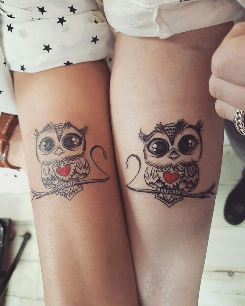 Owl Matching Tattoo