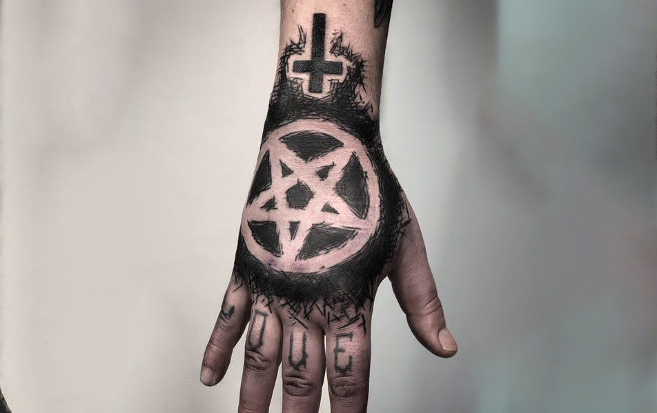 Pentagram Star Tattoo