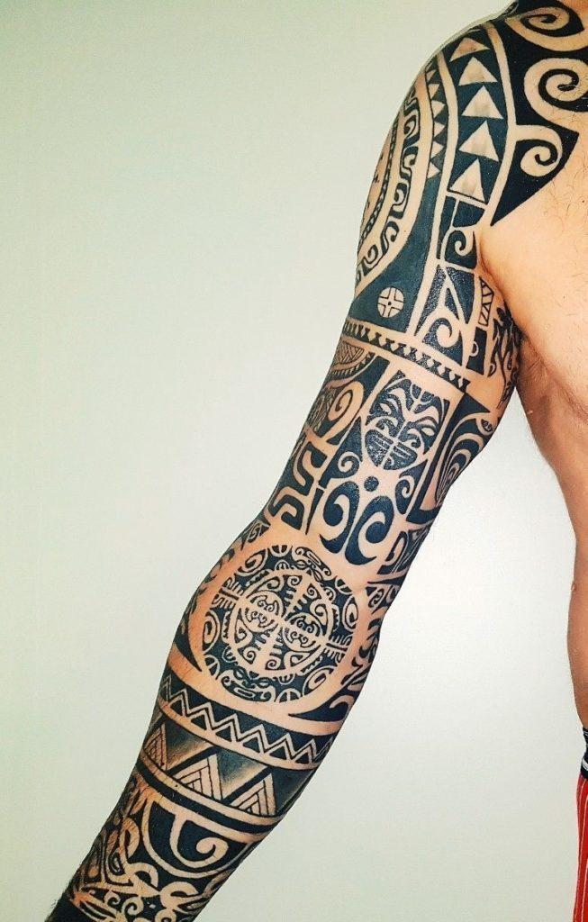 Polynesian Sleeve Tattoo Designs