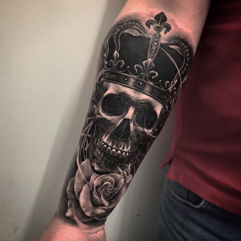 Skull Slleve Tattoo designs