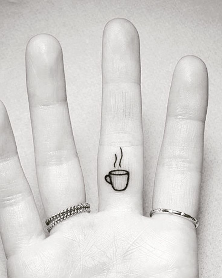 tiny Cup tattoo