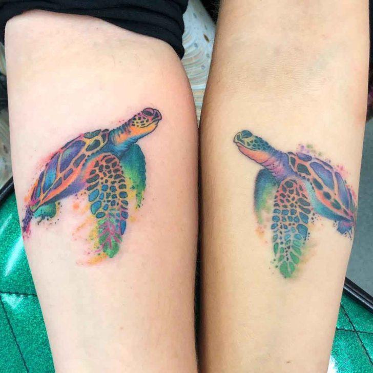 Turtles Matching Tattoos designn