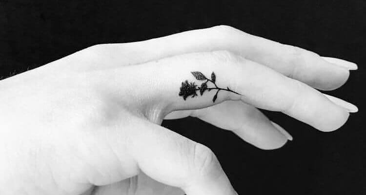 80 Inner and Side Finger Tattoos for Men & Girls with Meanings