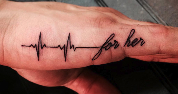 heartbeat on your hand tattoo