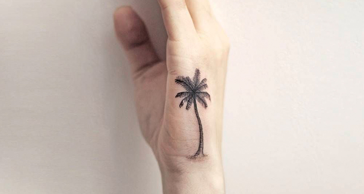 pine tree tat on hand