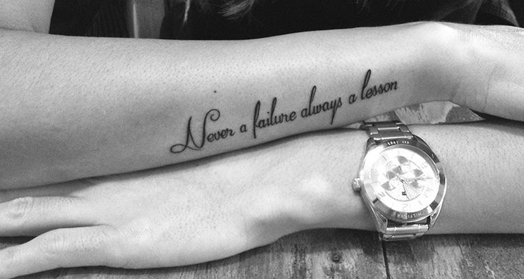 quote or phrase on your hand tattoo