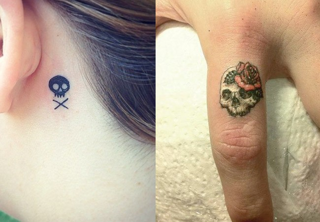 Rose and Skull Tattoo Designs